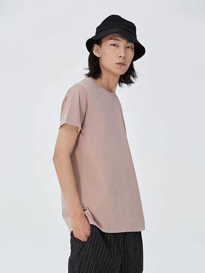 精梳棉圆领T恤